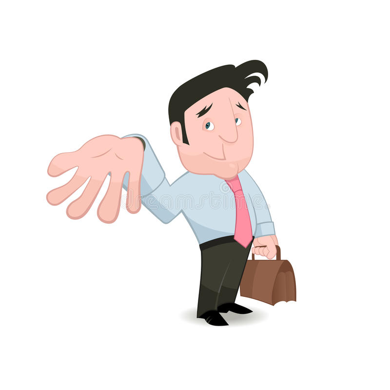 Download Man Gesturing And Placing Trust Stock Vector - Image: 29222137