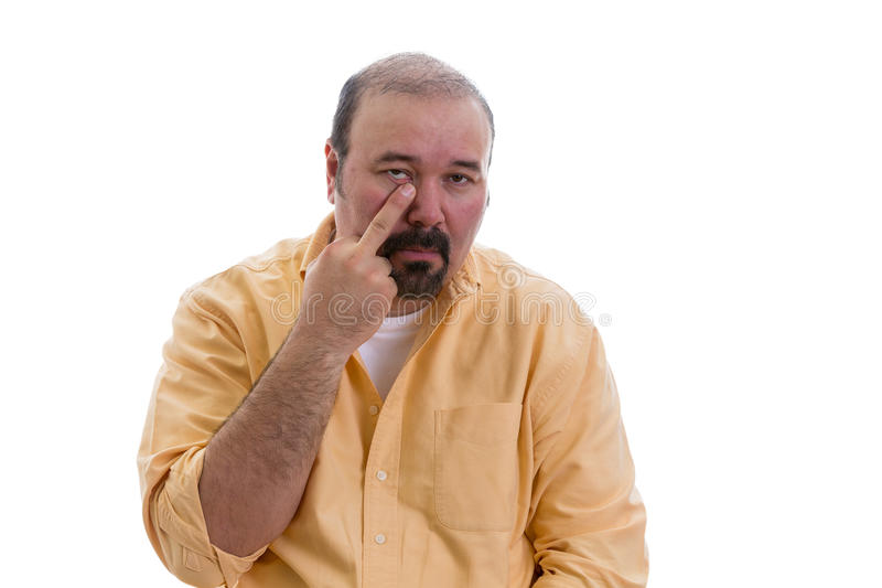 Download Man Gesturing Touching His Nose With A Finger Stock Photo - Image: 39171302