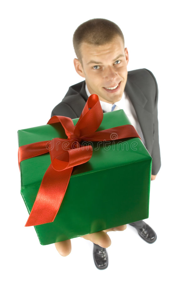 Download Man With Gift Royalty Free Stock Photos - Image: 1101378