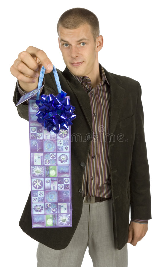 Download Man with gift stock image. Image of holiday, gratuity - 1101461