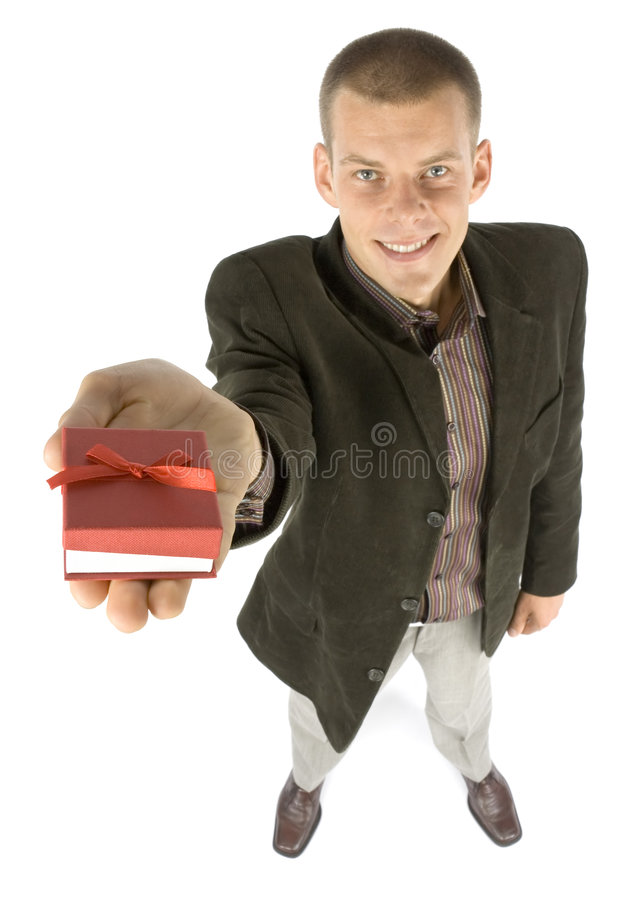 Download Man with gift stock photo. Image of birthday, grant, gifting - 1101482