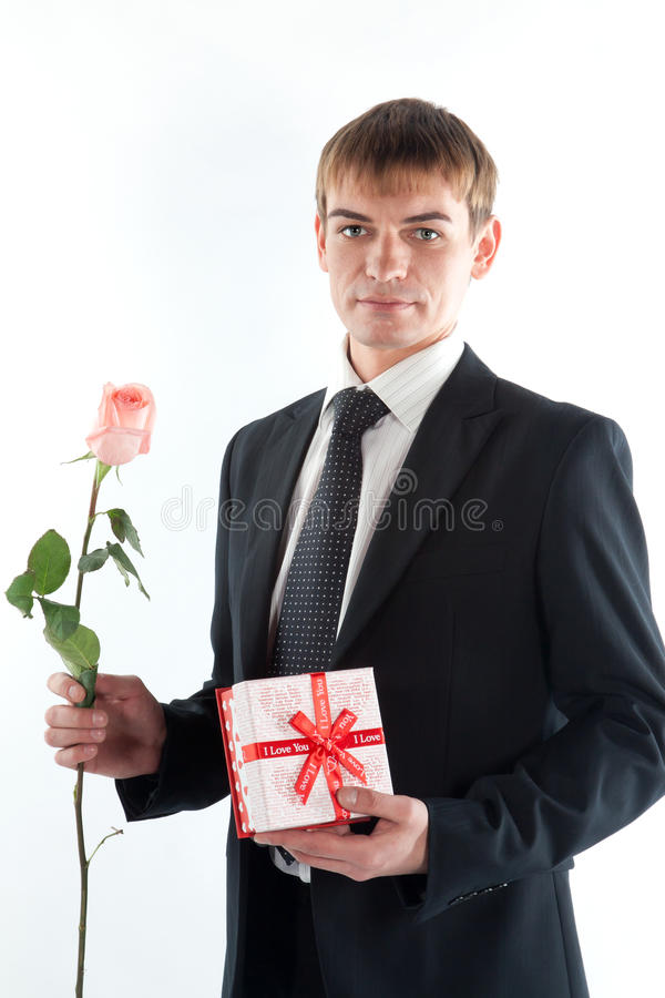 Download A Man With A Gift Stock Photography - Image: 23088612