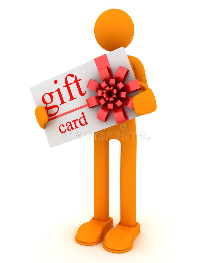 Download Man and gift card stock illustration. Image of empty - 17354082