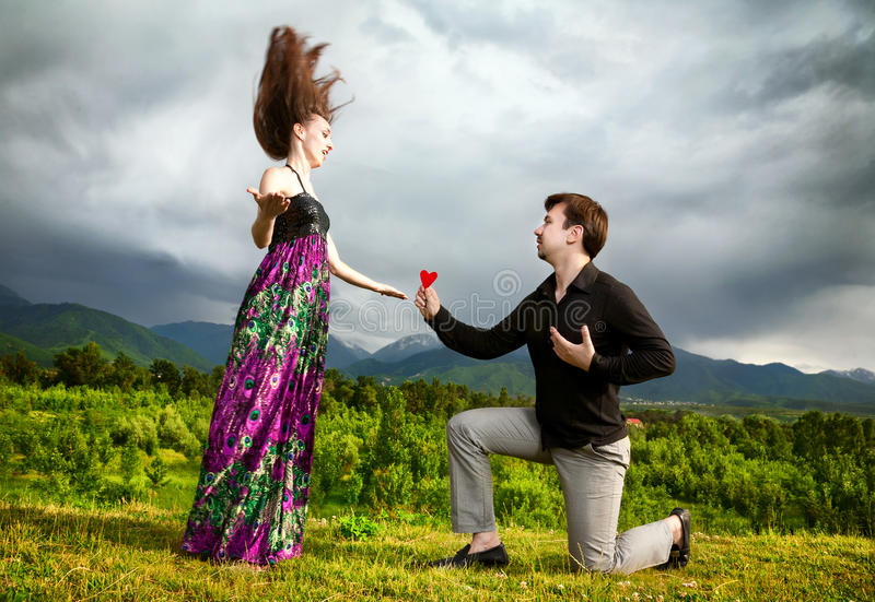 Download Man Gifting Heart To His Girlfriend Stock Image - Image: 19987363