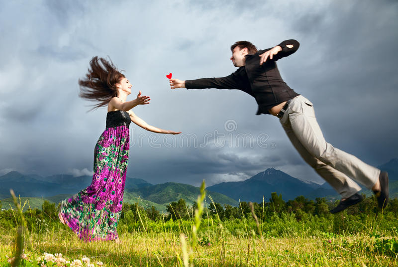 Download Man Gifting Heart To His Girlfriend Stock Image - Image: 20198679