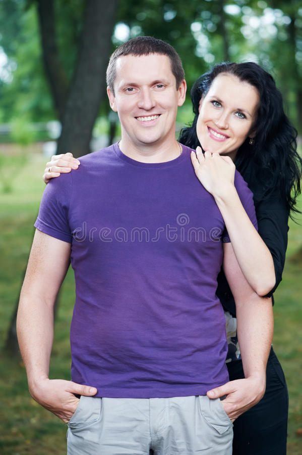 Man And Girlfriend On A Date Royalty Free Stock Photography