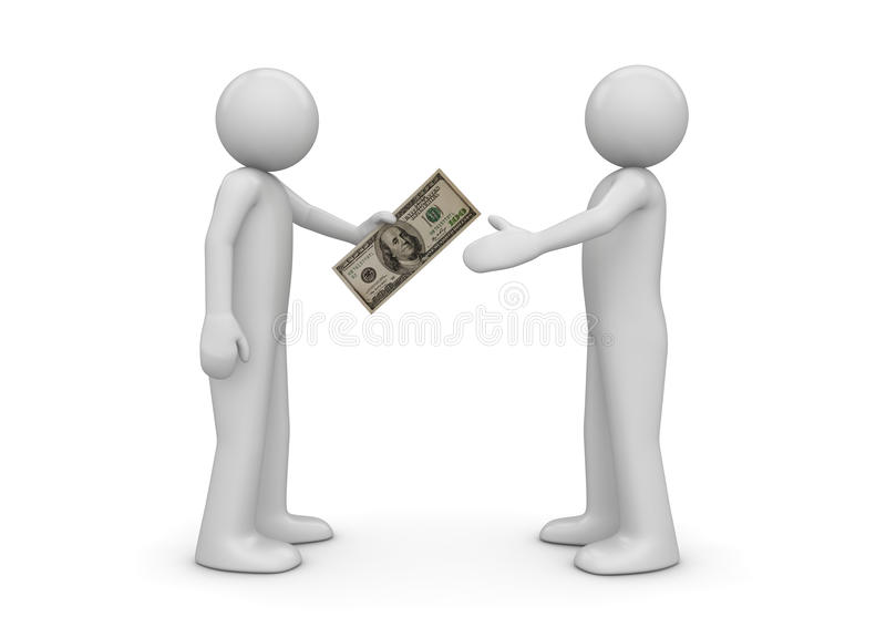 Download Man Gives $100 Note To Another Stock Photos - Image: 16167123