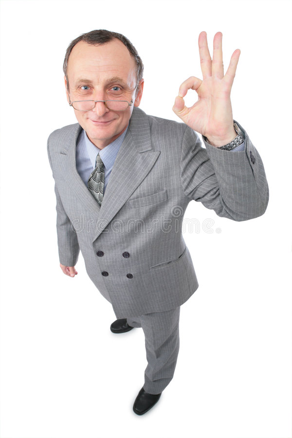 Download Man gives gesture OK stock photo. Image of older, manager - 4234766