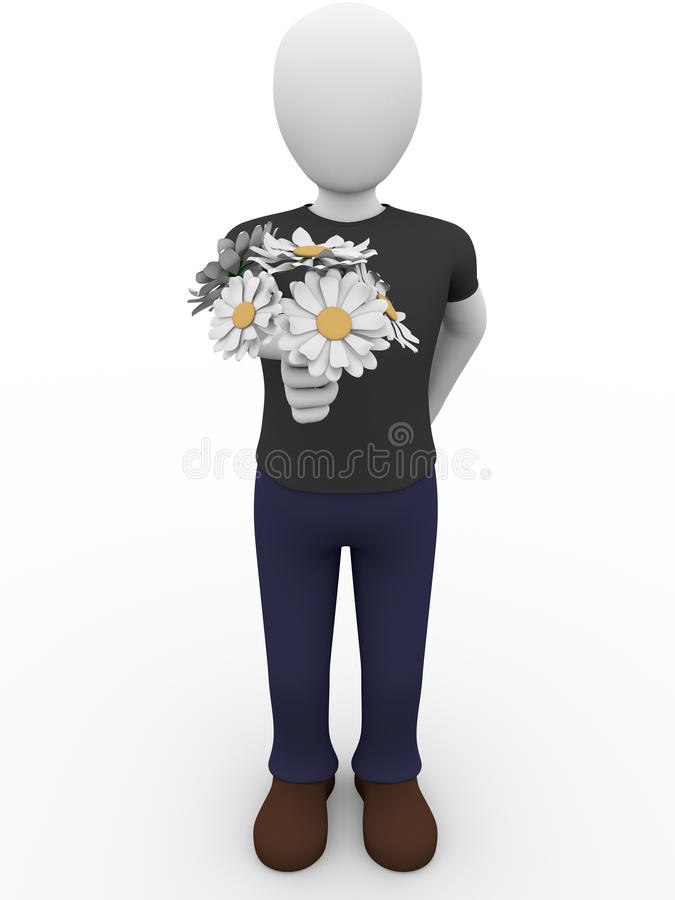 Man Giving Flowers Royalty Free Stock Photo