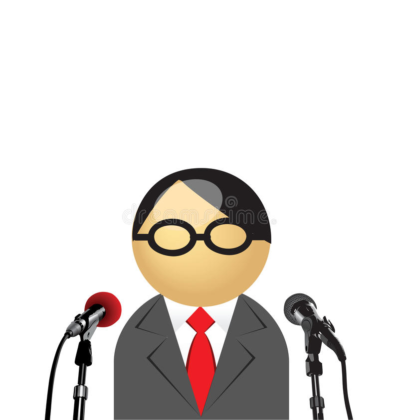 Man giving interview. With copy space for own text vector illustration