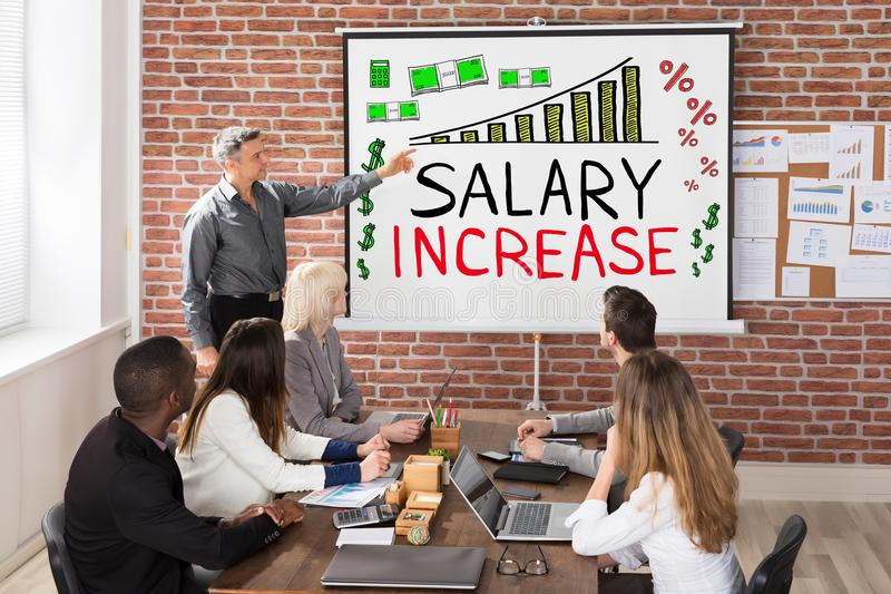 Salary Increase Presentation stock images