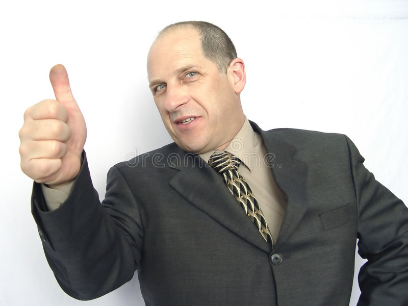 Man giving the thumbs up royalty free stock photos