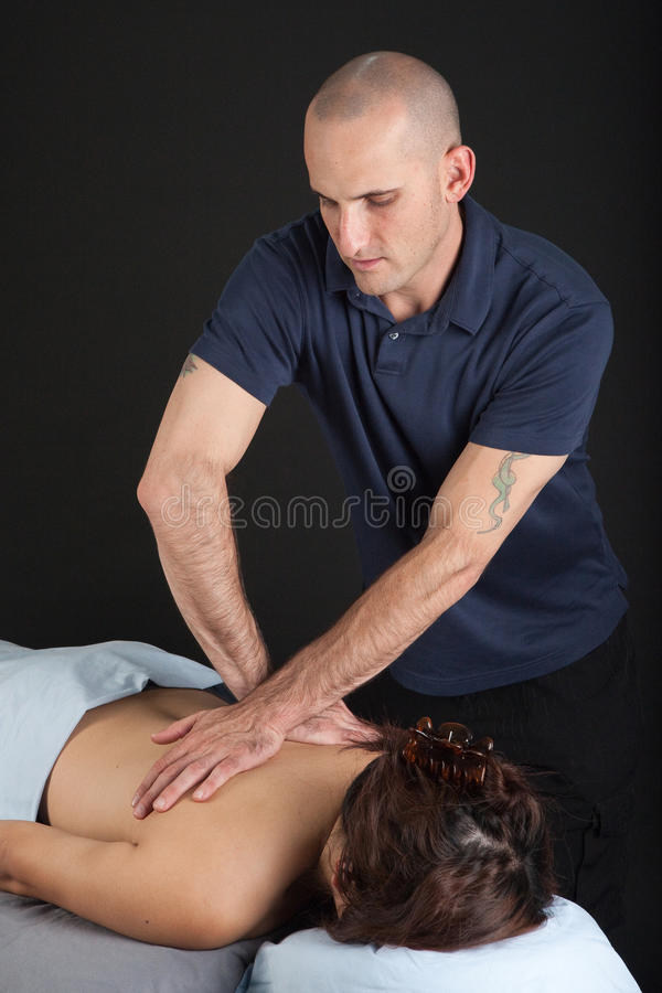 Download Man Giving Woman A Professional Massage Stock Image - Image: 21790473