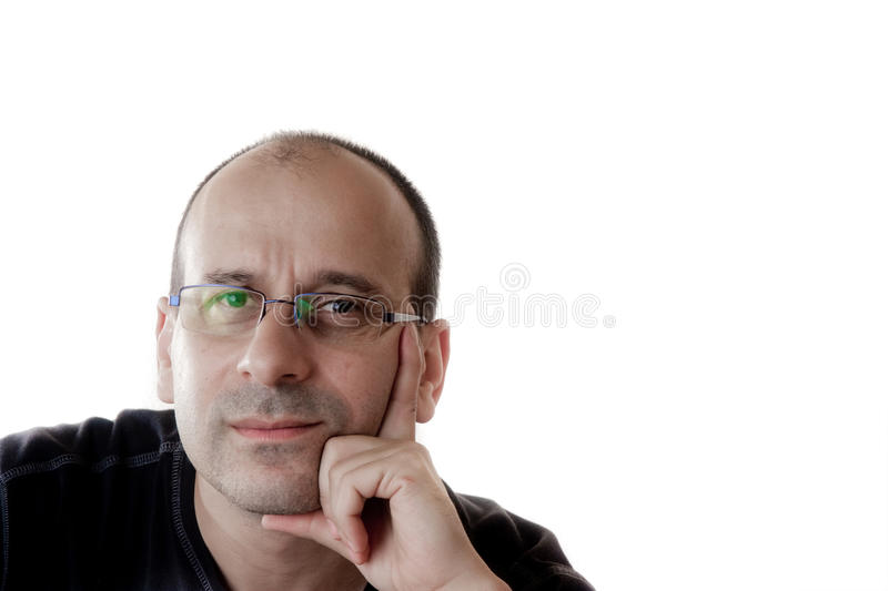 Man in glasses stock photos