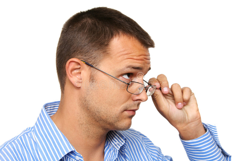 Man with Glasses royalty free stock image