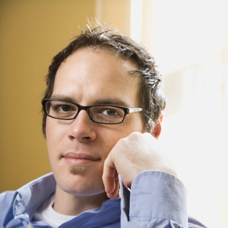 Man in glasses. stock image