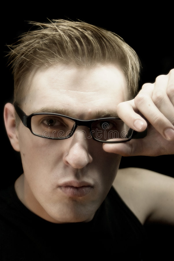 A man with glasses royalty free stock photo