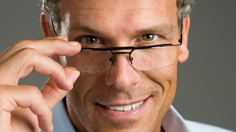 Man with glasses royalty free stock photography