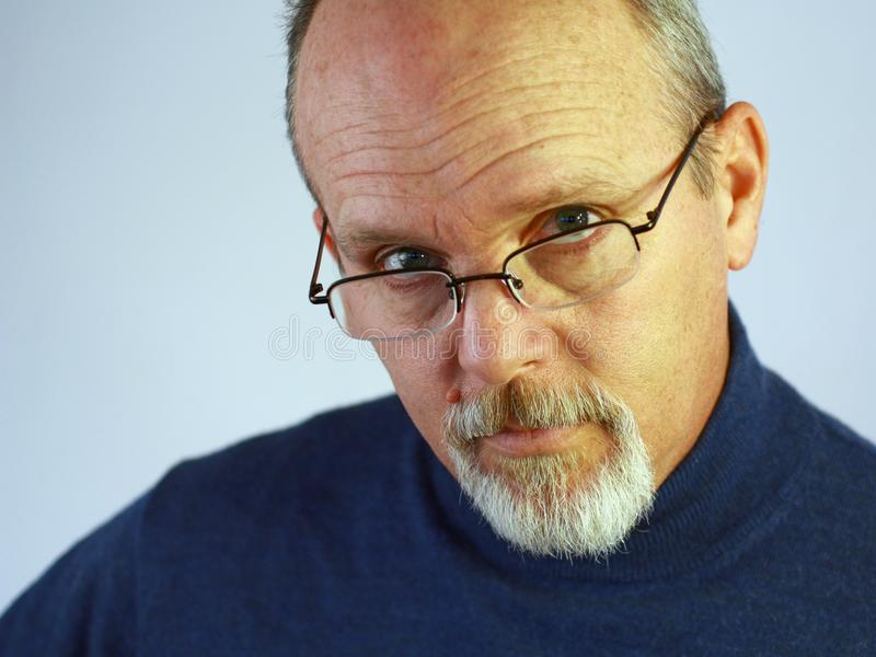 Download Man With Glasses And Goatee Stock Photo - Image: 13414324