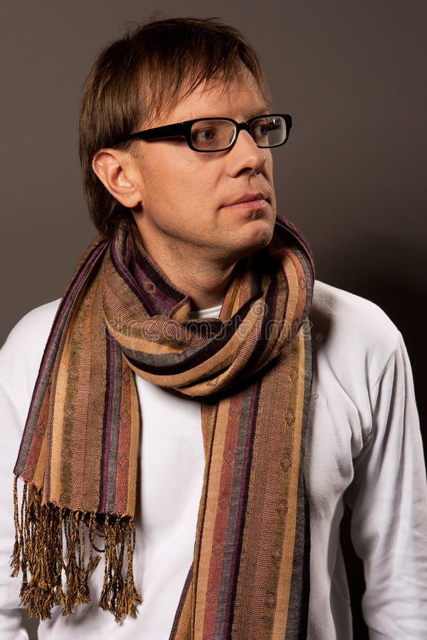 Download Man In Glasses Looking Forward Stock Photo - Image: 10067190