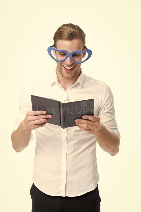 Man in glasses red book. Business training. Male fashion. Businessman. back to school. Fashion portrait of man. Bearded stock photos