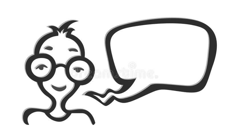 Download Man In Glasses Social Net Icon Stock Vector - Illustration of spectacles, talk: 25185544