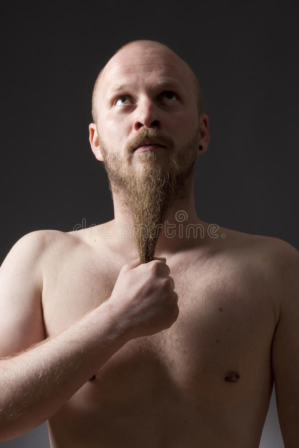 Man with Goatee Beard stock image