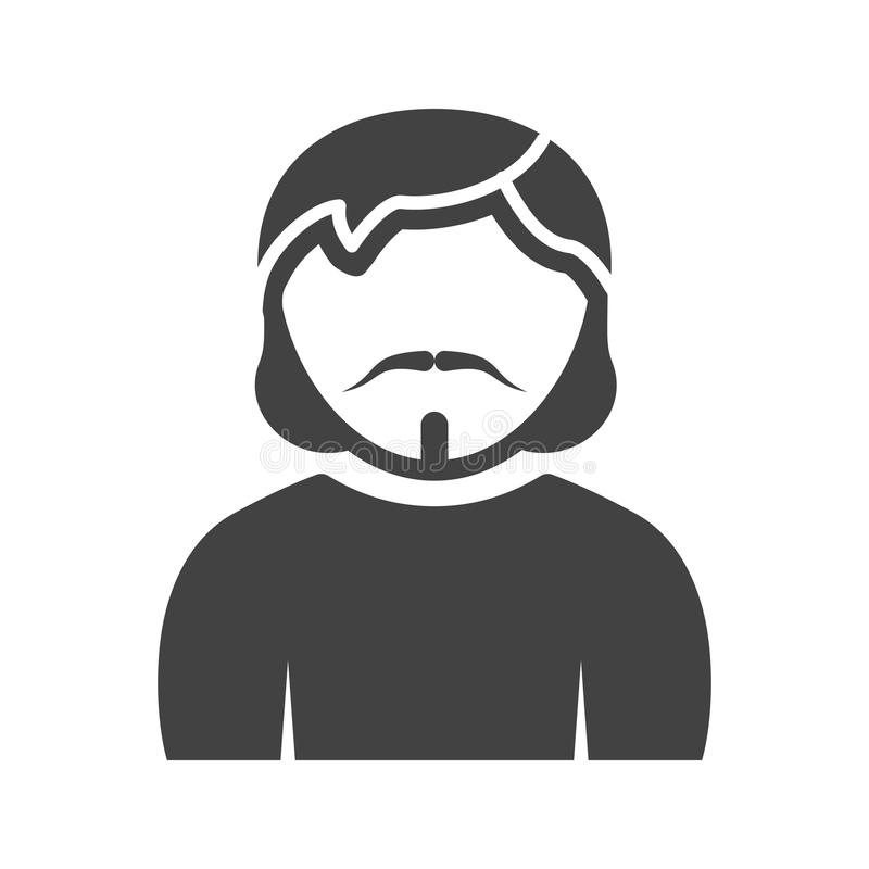 Man in Goatee. Man, goatee, portrait icon vector image. Can also be used for Avatars. Suitable for mobile apps, web apps and print media vector illustration