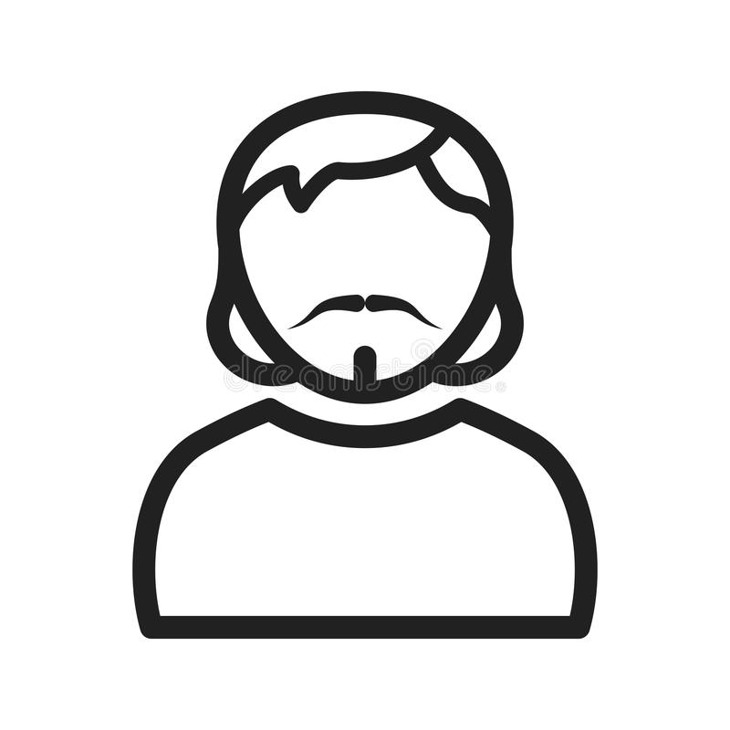 Man in Goatee. Man, goatee, portrait icon image. Can also be used for Avatars. Suitable for mobile apps, web apps and print media royalty free illustration