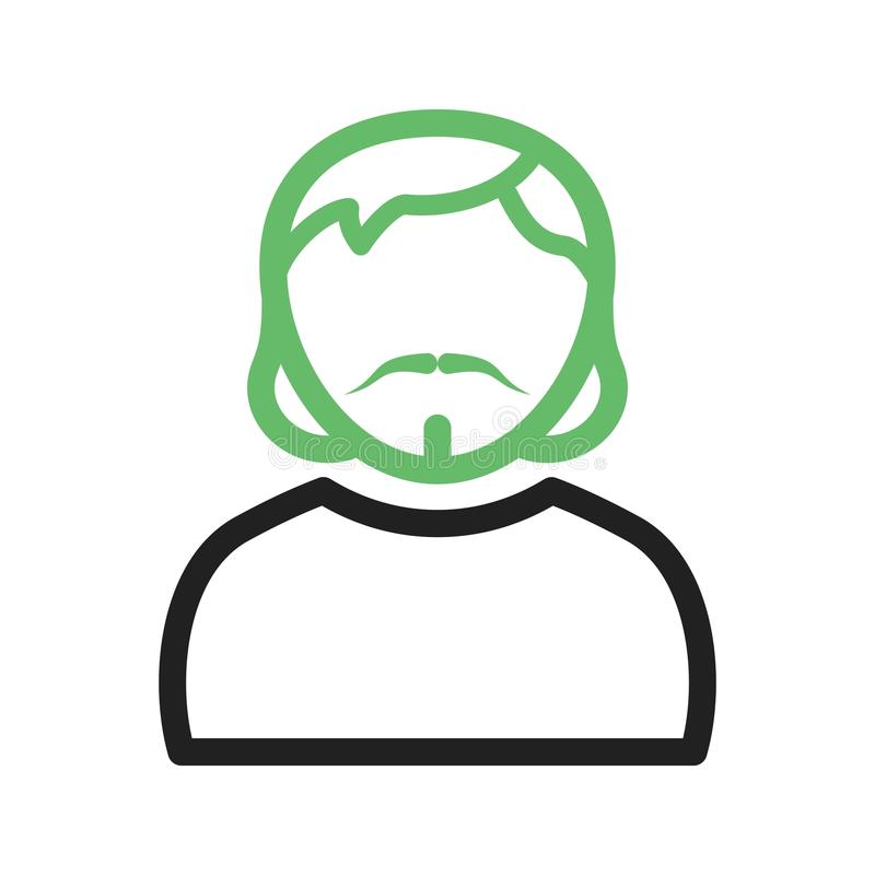 Man in Goatee. Man, goatee, portrait icon vector image. Can also be used for Avatars. Suitable for mobile apps, web apps and print media royalty free illustration