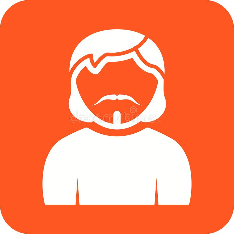 Man in Goatee. Man, goatee, portrait icon vector image. Can also be used for Avatars. Suitable for mobile apps, web apps and print media stock illustration