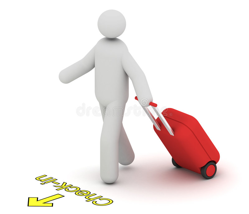 Download Man going to check-in stock illustration. Illustration of airplane - 8762643