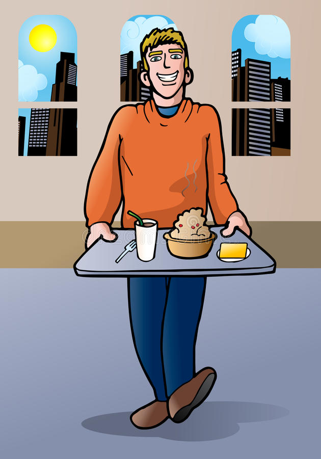 Download Man going to eat stock illustration. Image of lunch, tasty - 22603614