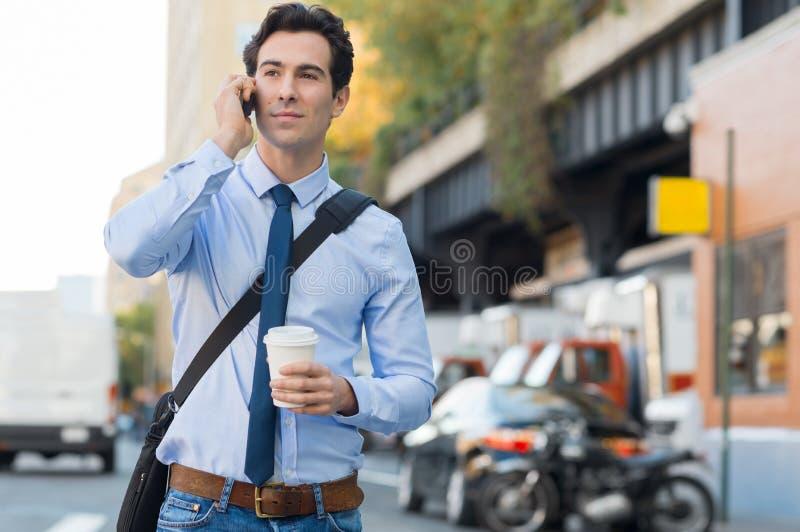 Man going to work stock photo
