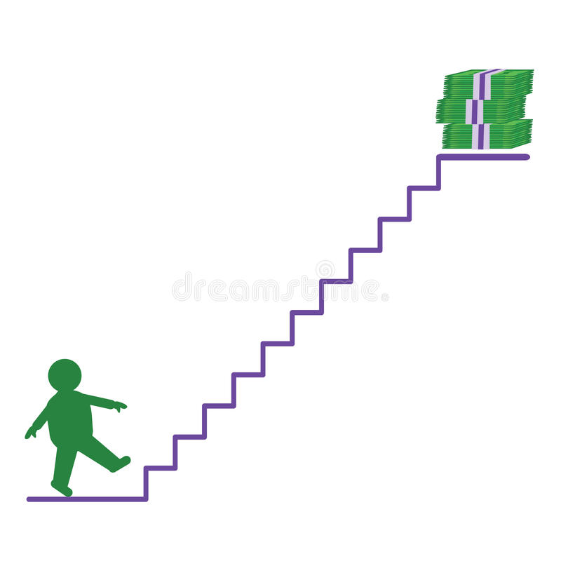 Download A man going up to money stock vector. Image of energy - 11344404