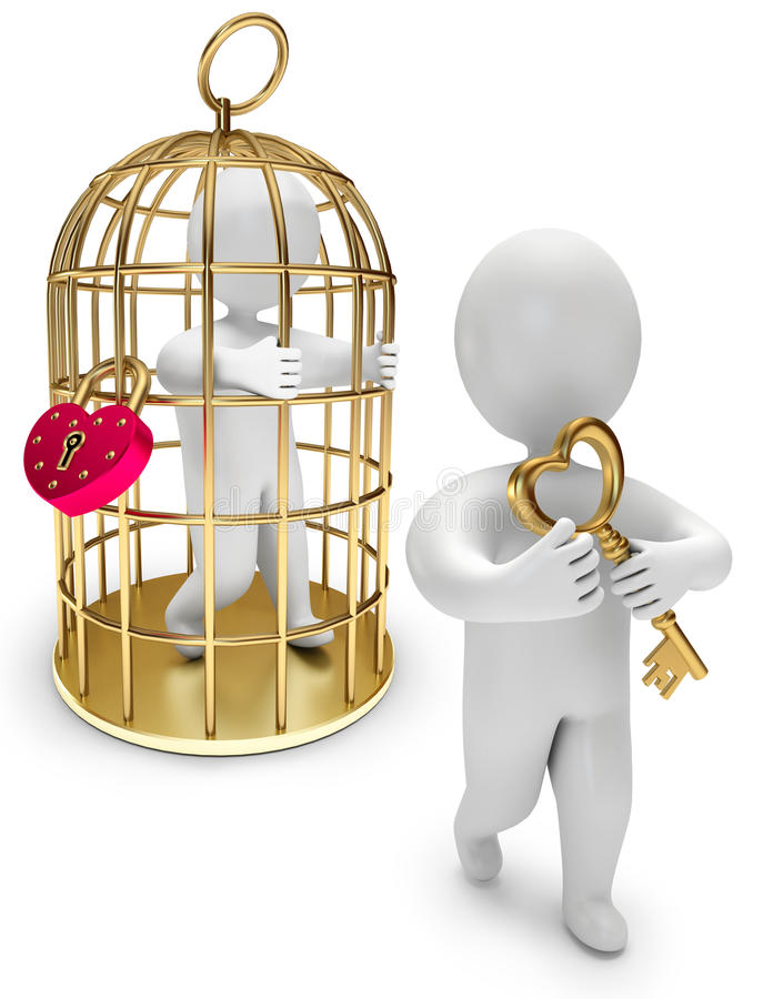 Download Man In A Golden Cage Stock Images - Image: 22947674