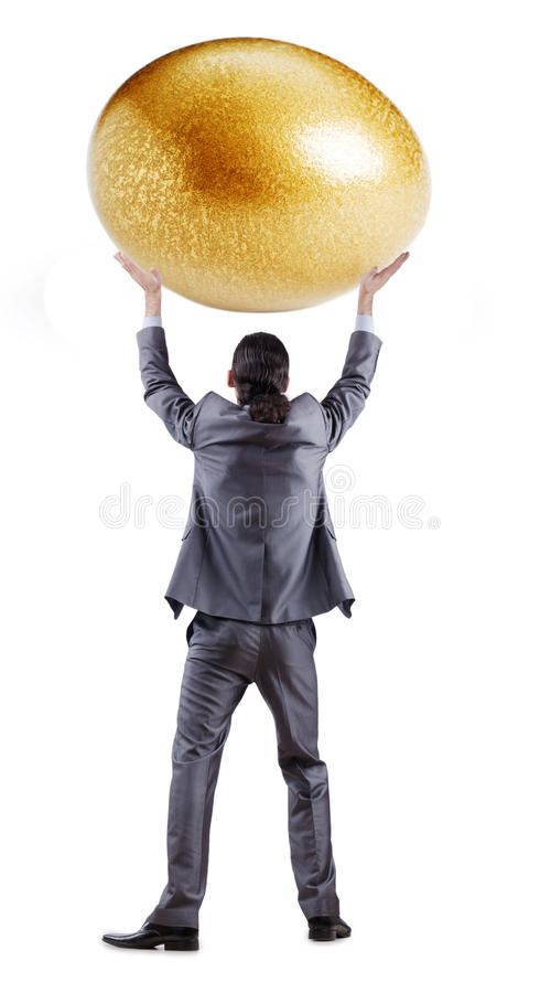 Download Man and golden egg stock image. Image of metaphor, background - 24759757
