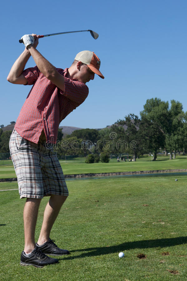 Download Man Golfing stock photo. Image of swing, action, holes - 10273906