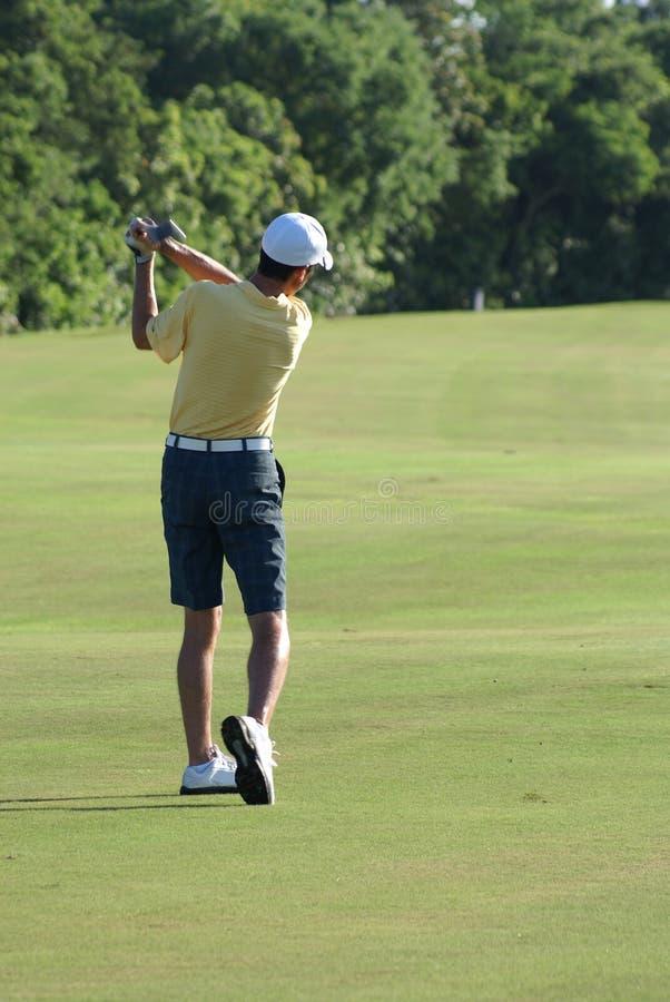 Download Man Golfing stock image. Image of grass, yellow, people - 11549883