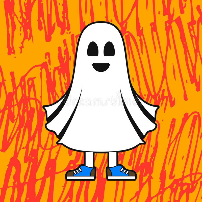 Friendly ghost costume for Halloween royalty free stock photo
