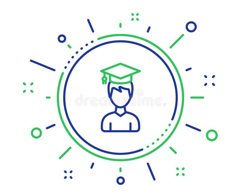 Man in Graduation cap line icon. Education. Vector stock illustration