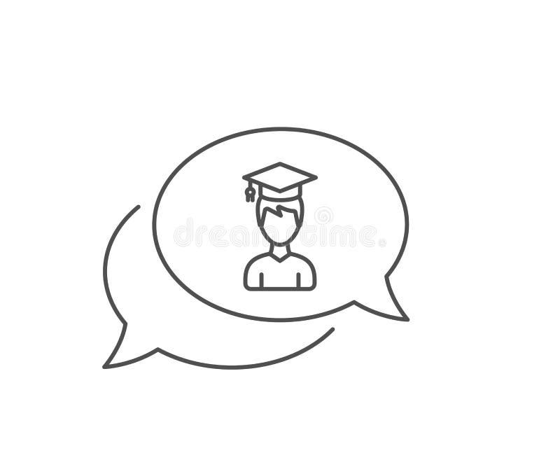 Man in Graduation cap line icon. Education. Vector vector illustration