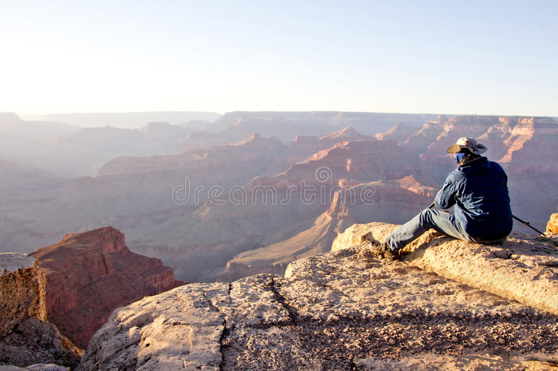 Download Man at the Grand Canyon stock photo. Image of united - 24598538