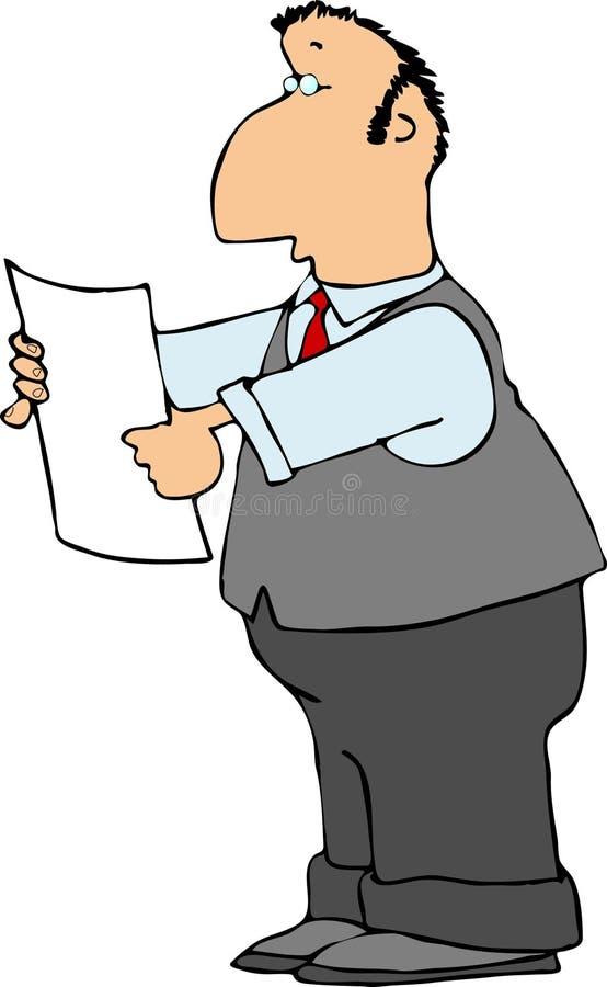 Man in gray stock illustration