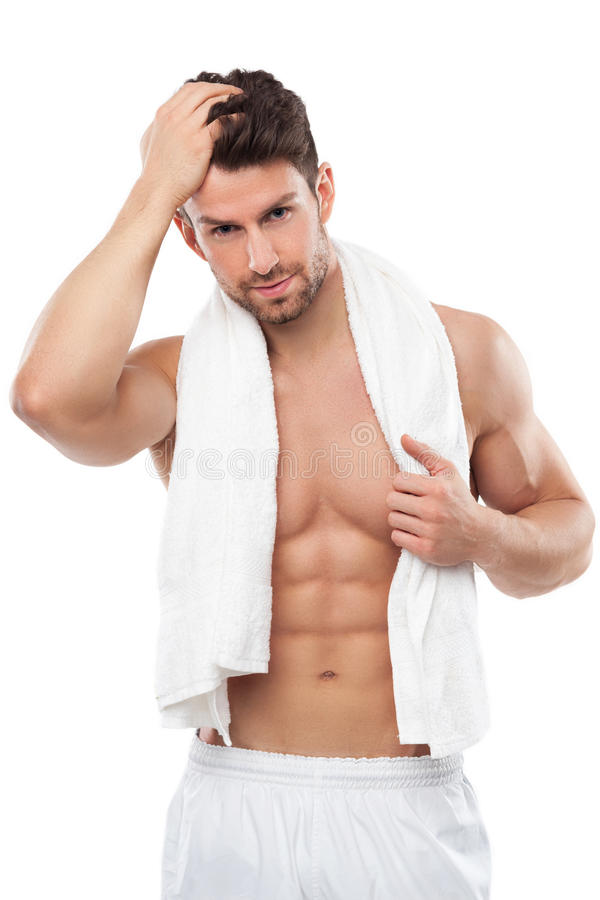 Man with great body. Young man with great body royalty free stock photos