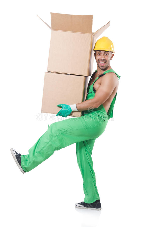 Download Man In Green Coveralls Stock Image - Image: 33679901