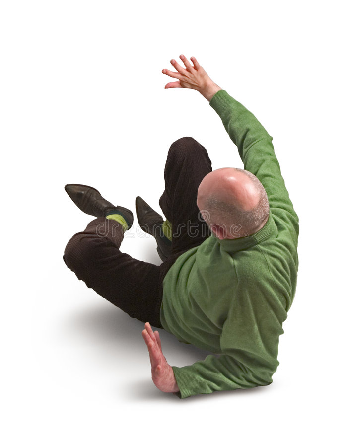 Man in Green Jumper 32. Man in green jumper lying on the floor, one arm outstretched royalty free stock photos