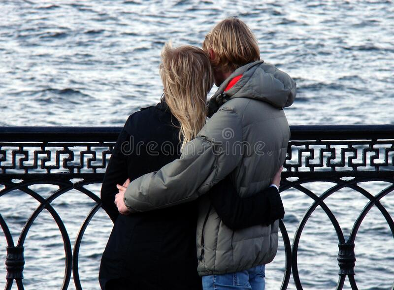 Man In Grey Bubble Jacket Beside Woman In Black Sweater Free Public Domain Cc0 Image