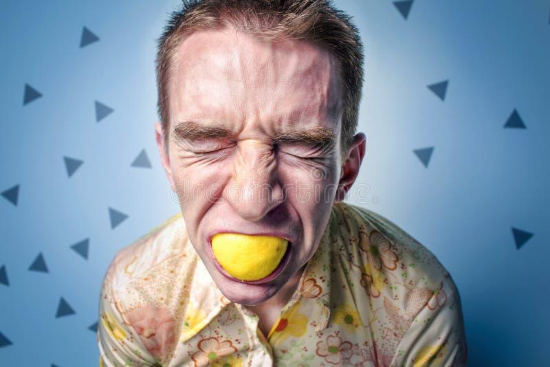 Man Grimacing Eating Lemon Free Public Domain Cc0 Image