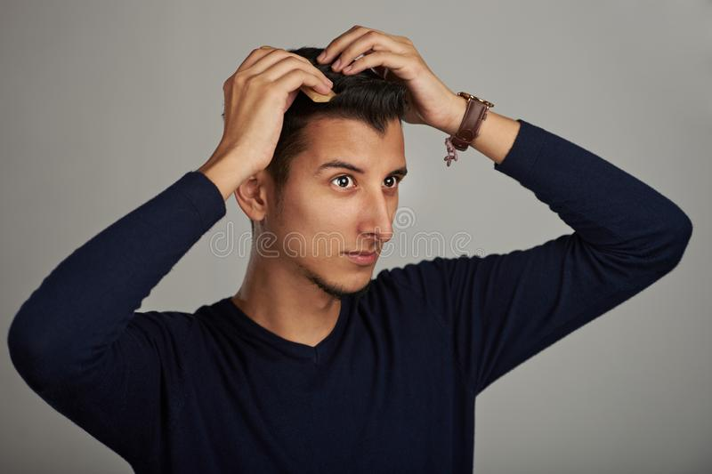 Man grooming theme stock images